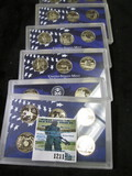 1999, 2000, 2001, 2003, 2005, & 2006 Proof State Quarters Sets With No Boxes