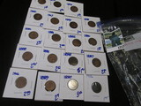 (19) Carded & Dated Indian Head Cents
