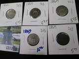 (5) V Nickels All For One Money