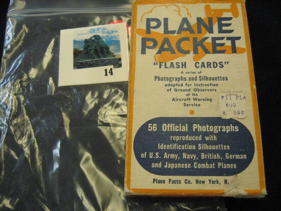Plane Packet flash cards, adapted for instruction of ground observers of the aircraft warning servic