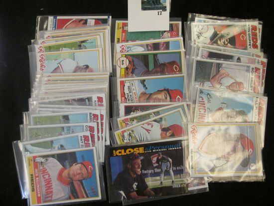 41 mixed sports cards includes 70s era Cincinnati Reds, Pete Rose and Johnny Bench included and 1991