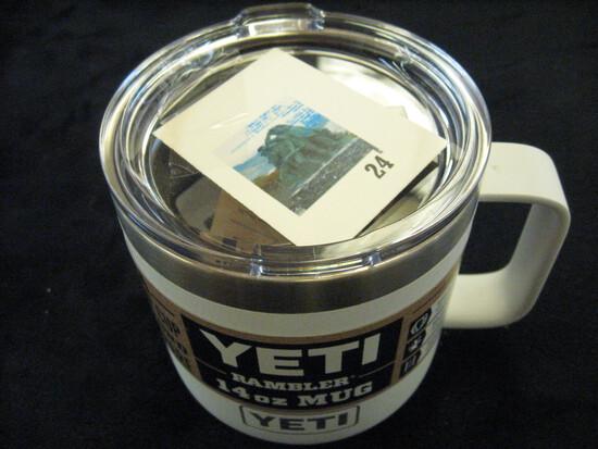 YETI Rambler 14oz mug white, brand new with labels, retail price $25+