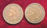 2402. 1890 & 93 Indian Head Cents. F.