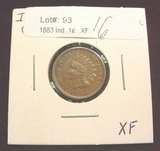 2406. 1883 Indian Head Cent. EF.