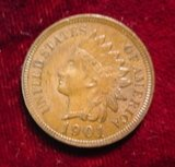 2407. 1901 Indian Head Cent. Brown Unc.