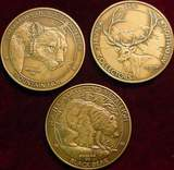 2458. (3) American Hunting Club Bronze Medals.