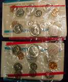 2489. 1968 & 72 US Mint Sets. Original as Issued.