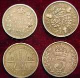 2524. (4) Silver Foreign Coins. 1910-1938 Canada & G.B.
