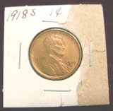 2550. 1918S Lincoln Cent. Red & Brown 63.