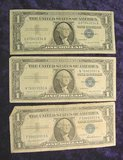 2600. Series 1957, 57A & 57B $1. Silver Certificates.