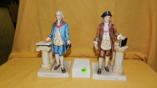 2 piece Goebel / Hummel figurines Washington / Franklin