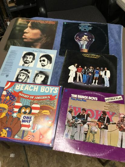 Vintage group of six piece record albums various artists vinyl good condition