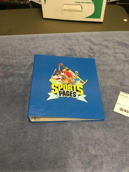 Vintage folder of sports pages