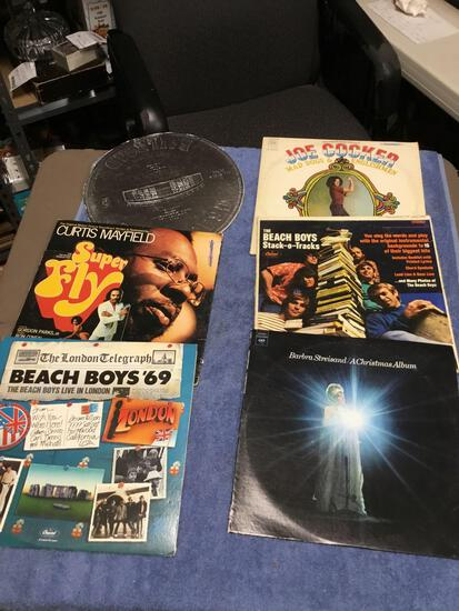 Vintage group of six piece record albums various artist vinyl in good condition