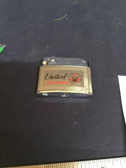 Vintage advertising lighter Howard United of Omaha