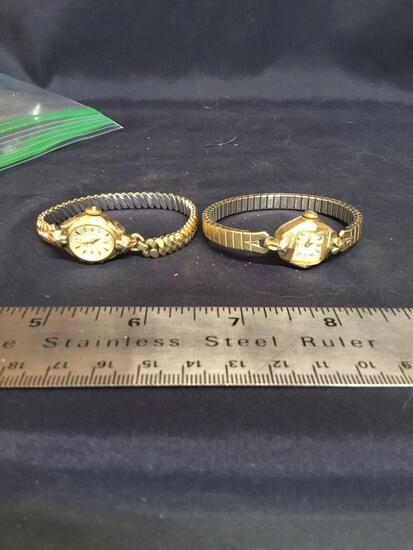 Vintage two piece ladies GRUEN wrist watch working edition unknown