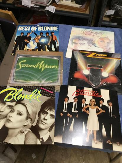 Vintage group of six piece record albums various artists vinyl good