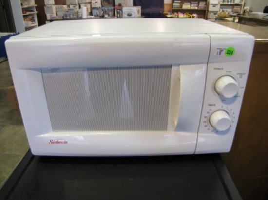 White Sunbeam Microwave Model Sbm6500w April 2992 Local Pick Up