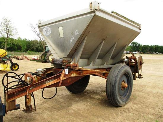 "NEWTON CROUCH FERTILIZER SPREADER 16"" CAHIN, 11.25-28 TIRES, PIN PULL"