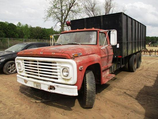 FORD 700 T/A TRUCK 20' DUMP W/ PULL-OVER TARP, 5 SP W/ 2 SPEED AXLEVIN: F70EVF53204IF YOU ARE A