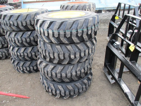 New 10-16.5 New Holland Tires/Wheels (4)