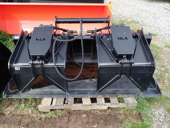 "HLA 78"" Industrial Grapple Bucket"