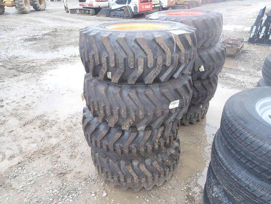 12-16.5 Tires on Rims for Case Skid Steer Loaders