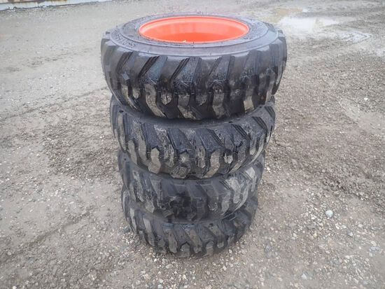 Bobcat 10-16.5 Skid Steer Tires on Rims