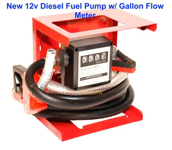2020 12 Volt Diesel Fuel Pump with Flow Meter