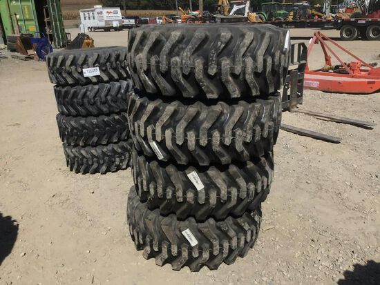 12-16.5 Tires on Rims for Case Skid Steer Loaders