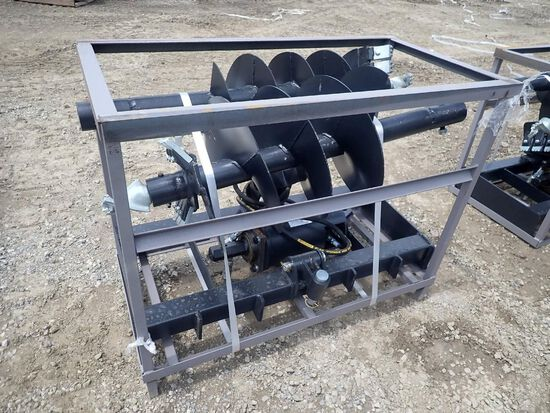 JCT Skid Steer Hydraulic Auger Drive & Bits