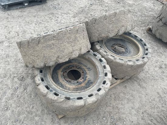33x12-20 Solid Skid Steer Tires