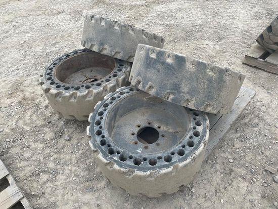 12-16.5 Solid Skid Steer Tires