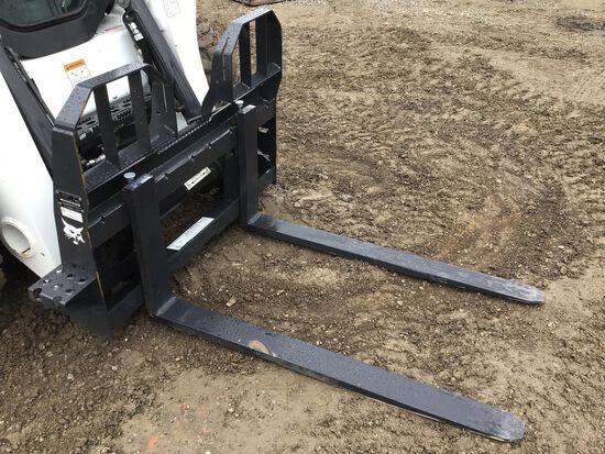 "Bobcat 48"" Heavy Duty Skid Steer Pallet Forks"