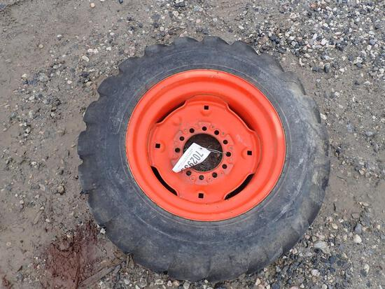 Kubota 27x8.50-15 Tire on Rim
