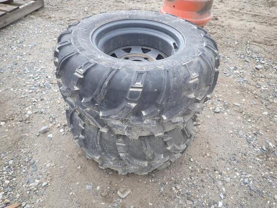 24x11-12 Tires on 4 Lug Rims