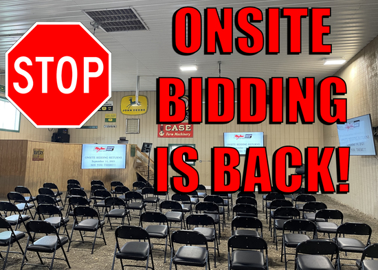 ONSITE BIDDING IS BACK!