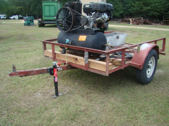 (NT) 5X8 TILT TRAILER WITH AIR COMPRESSOR