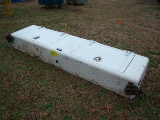 WHITE TRUCK TOOL BOX