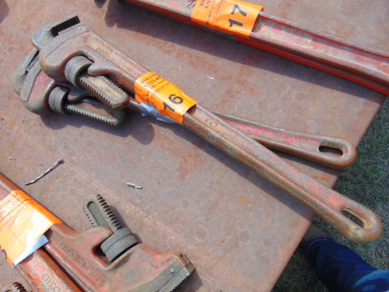 """(2) RIGID 24"""" PIPE WRENCHES"""