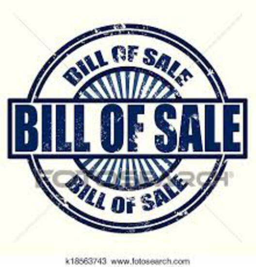 TITLES / BILL OF SALE