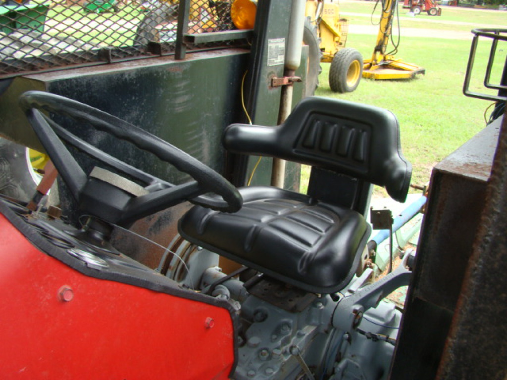... BRUSH MASSEY FERGUSON 255 TRACTOR, DSL, HRS/1021, IROPS WITH CAGE, ...