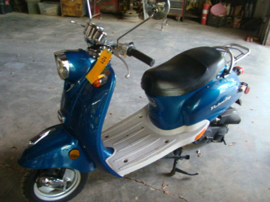 (NT) 08 VELOCITY SCOOTER, 250MI SHOWING, VIN-LYD7CBPB581200274