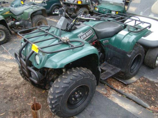 2003 YAMAHA BIG BEAR 400 4WD ATV VIN/5YRAH06YX3A041381