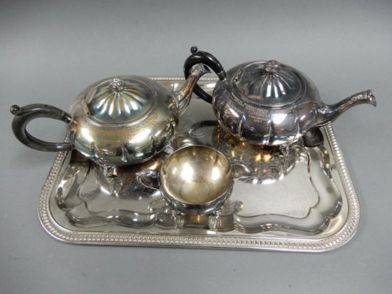 SUPERTEST SERVICE SILVER PLATE TEA SET