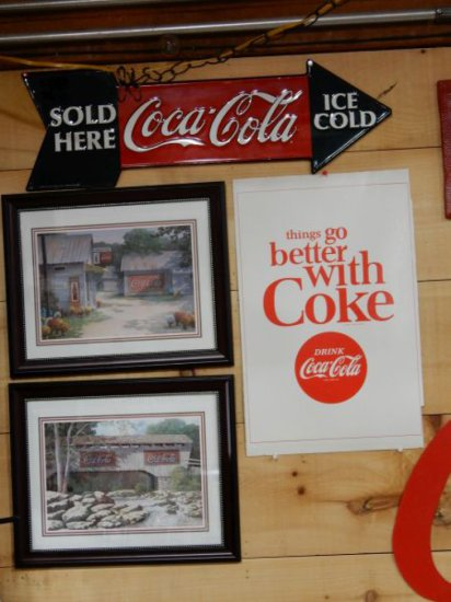 GROUP OF 4 COCA-COLA ADVERTISING