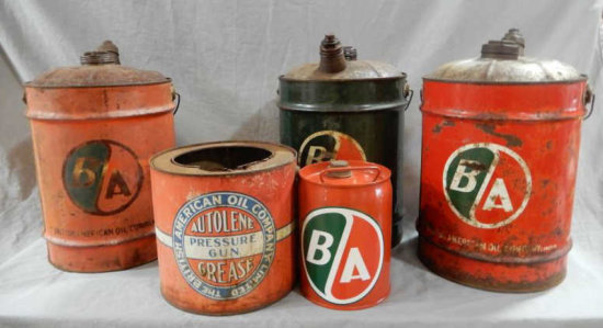 LOT OF 5 B/A CANS