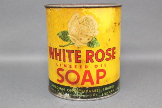 WHITE ROSE LINSEED OIL SOAP CAN