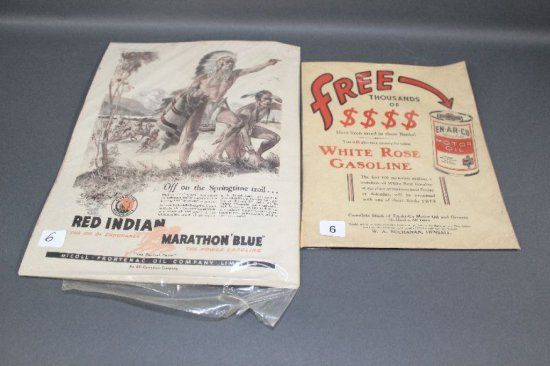 WHITE ROSE AND RED INDIAN ADVERTISEMENTS