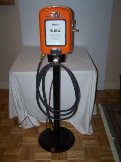 GILBARCO AIR METER RESTORED WITH FLOOR STAND & HOSE 52